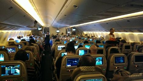 Etihad Airways B777-300ER Economy Cabin