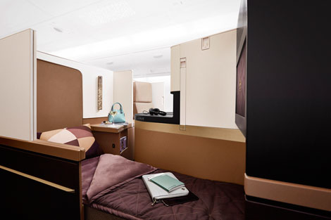 Etihad A380 Business Studio flat-bed