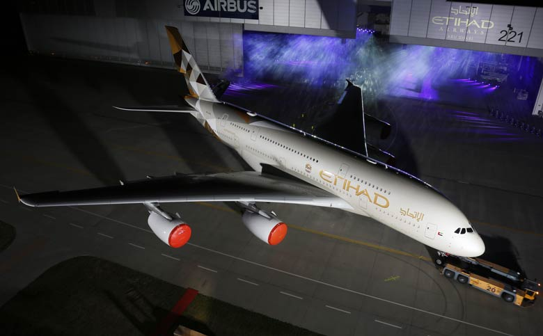 Etihad A380 new livery
