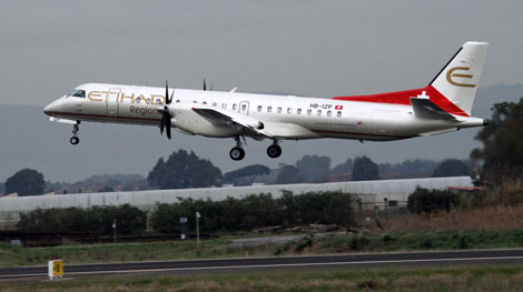 Etihad Regional maiden flight