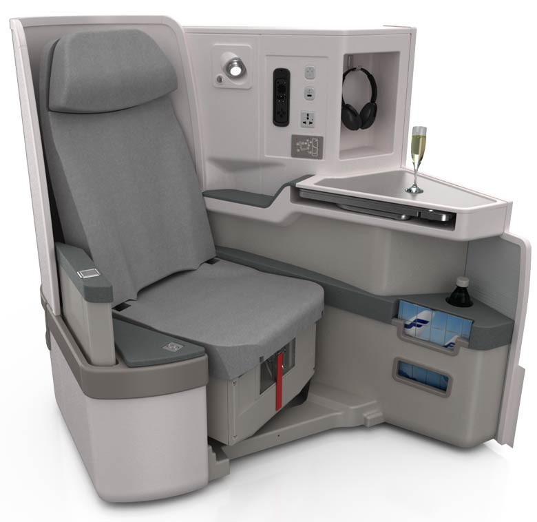 Finnair A350 business class seat
