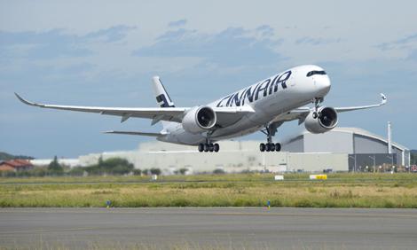 Finnair A350 test flight