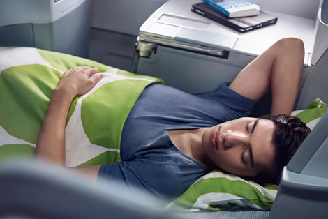 Finnair business class fully flat
