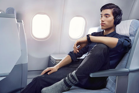 Finnair business seat
