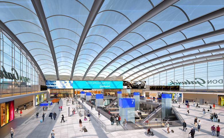 How it will look: London Gatwick\\\\\\'s train station concourse
