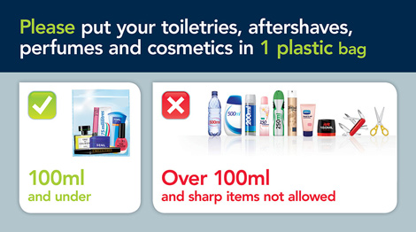 Advice from Gatwick airport on liquids restrictions