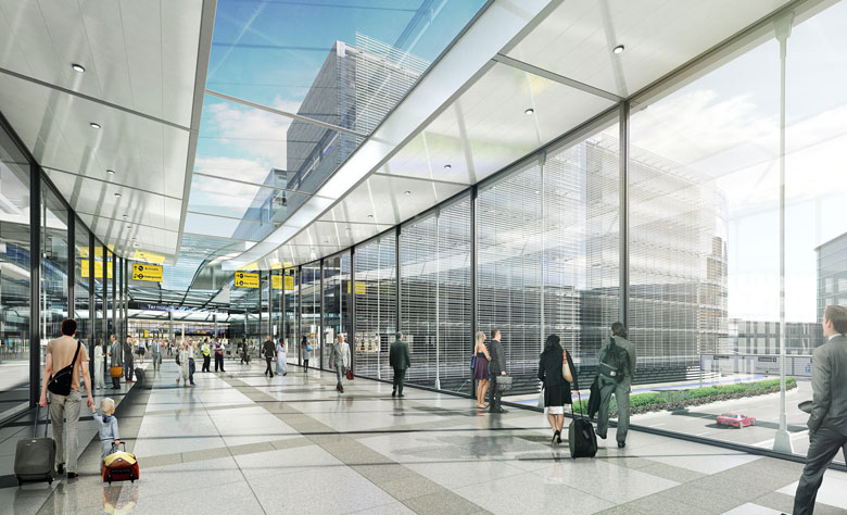 Within the new Central Terminal Area there would be hotel facilities within minutes of Terminal 2
