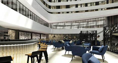 Hilton Amsterdam Airport Schiphol atrium lobby