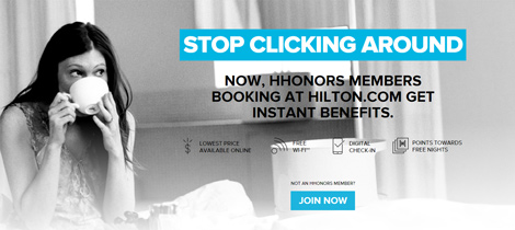 Hilton HHonors Stop Clicking Around