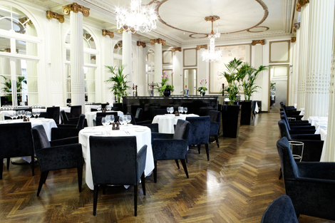 Waldorf Hilton, London dining room