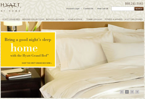 Hyatt At Home website