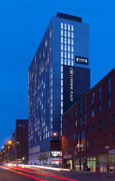 Crowne Plaza and Staybridge Suites dual Manchester Oxford Road hotel