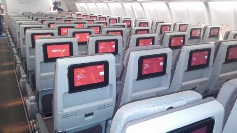 Iberia A330-200 economy cabin