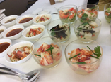 Seafood salads on Swiss International Air Lines