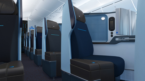 B787-9 World Business Class cabin