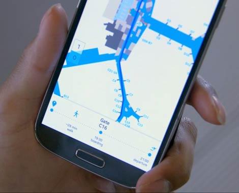 KLM route planner app