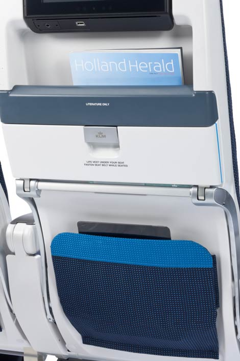 KLM B777 slimline seat