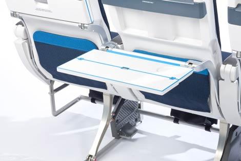 KLM B777 slimline seat tray