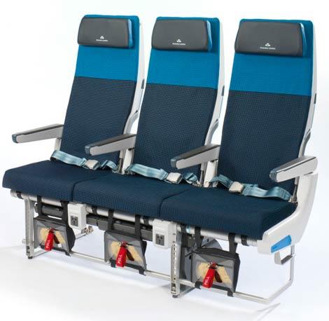 KLM B777 slimline seats