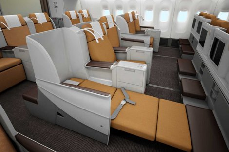 Kenya Airways B777-300ER business bed