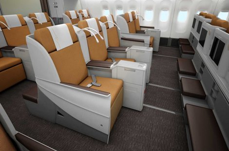 Kenya Airways B777-300ER business cabin