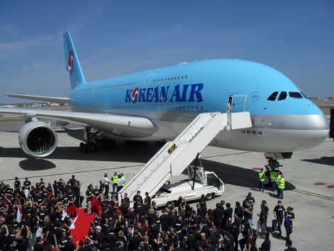 Korean Air A380 launch