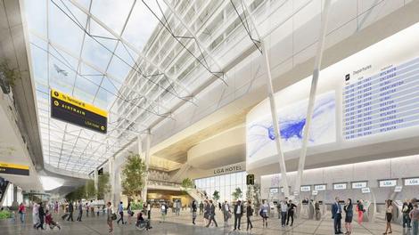 LaGuardia airport interior rendering