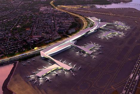 LaGuardia airport new terminals rendering