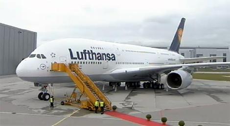 Lufthansa\\\\\\\\\\\\\\\\'s A380 at Frankfurt