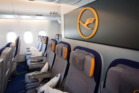 Lufthansa A380 Economy Class