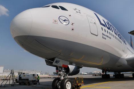 Lufthansa A380 nose
