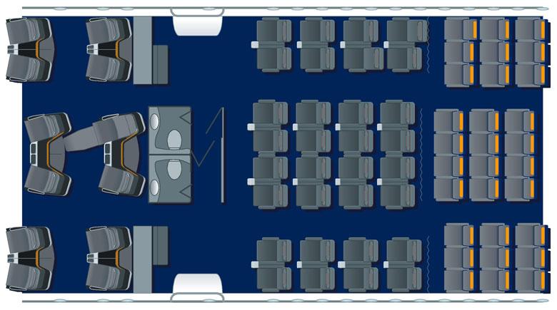 Lufthansa B747-8 premium economy seatplan