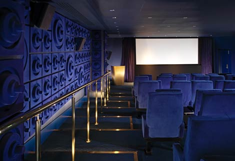 Mondrian London screening room