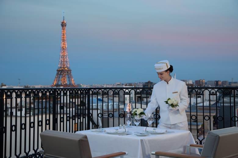 Peninsula Paris L\\\\\\\\'Oiseau Blanc terrace