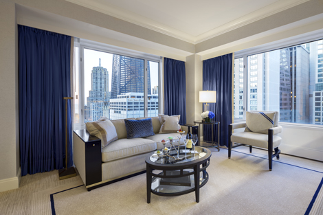 Peninsula Chicago Premier Executive Suite living room