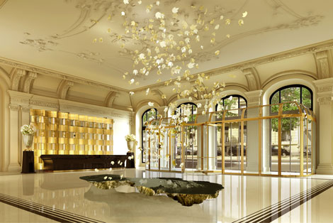 Peninsula Paris lobby