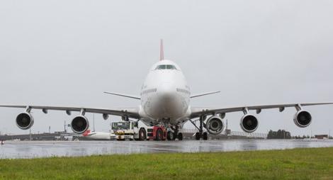 Qantas B747 with fifth engine