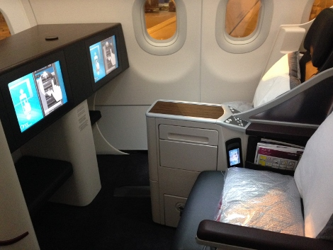 Qatar Airways all-business class seat upright