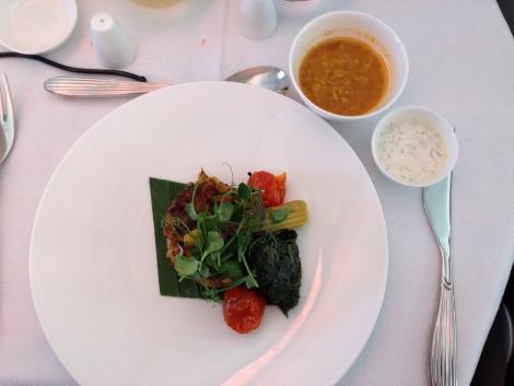 Qatar Airways A380 business class food