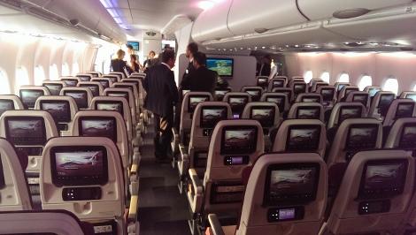 Qatar Airways A380 economy class main deck