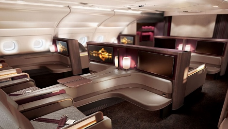 Qatar Airways A380 first class upper deck