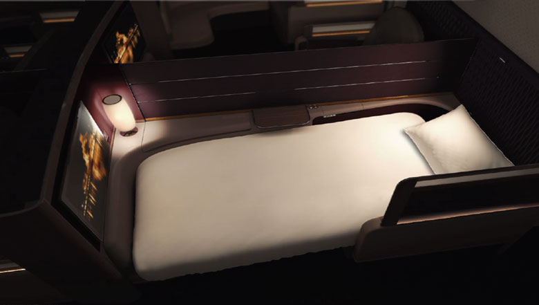 Qatar first class bed