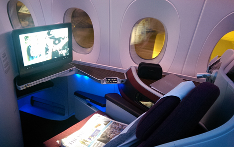 Qatar Airways A350 business seat