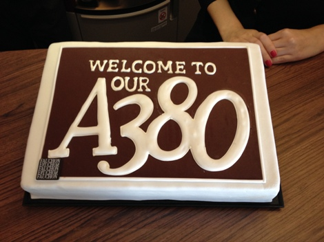 Qatar Airways A380 inaugural cake