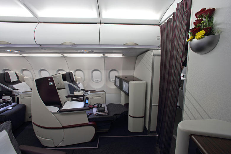 Qatar business cabin