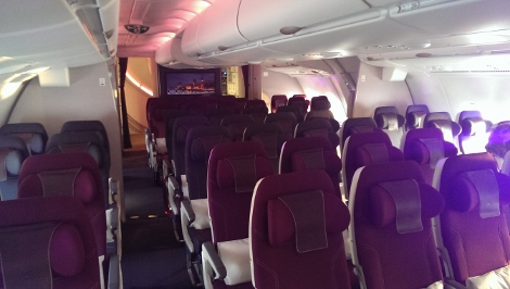 Qatar Airways A380 economy class upper deck