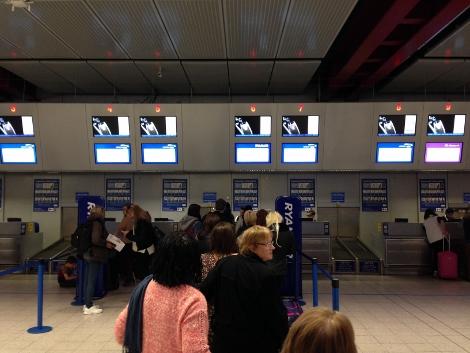 Ryanair boarding at Luton