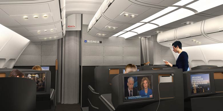 SAS business cabin