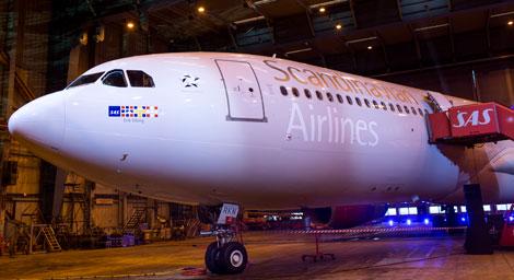 SAS A330 called Erik Viking