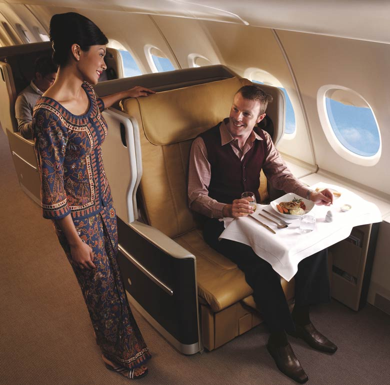 SIA A380 business class seat
